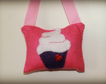 Heart Cupcake Tooth Pillow