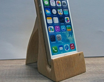 iPhone station. iPhone stand. Wood iPhone stand. Unusual stand.