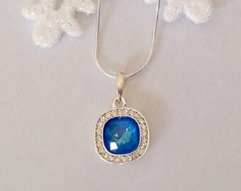 Ultra Blue Swarovski Necklace