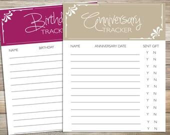 Organize Birthday Anniversary Dates; Digital Paper Dates to remember
