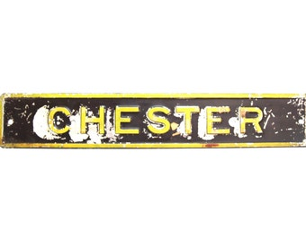 Vintage Railroad Sign from Chester PA/Metal Railroad Sign/RR Signs Train Station Signs/Vintage Signs/Chester PA