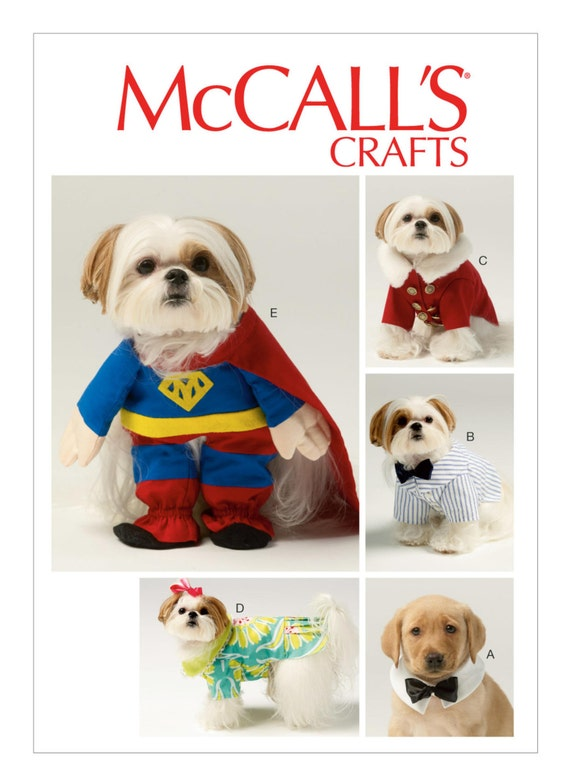 Sewing Pattern for Dog Clothes Dog Costumes McCallu0026#39;s