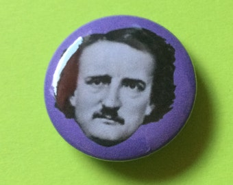 "Edgar Allan Poe 1"" Button"