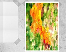 Abstract Art Print, Abstract Art Poster, Yellow Painting, Orange Painting, Vibrant Painting, Colorful Painting, Instant Download