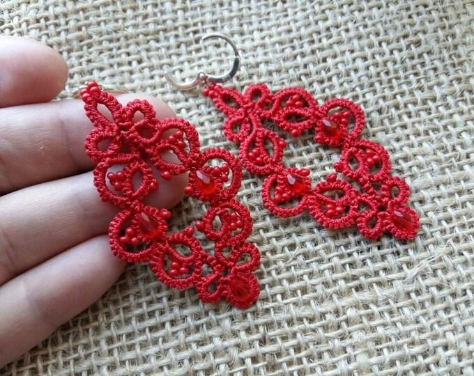earrings red flame