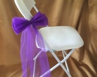 FABRIC BOW DECORATIONS For Any Type Of Event Sold In Sets Of 6 Purple