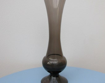 Smokey glass vase