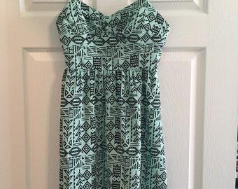 Mint Tribal Print Dress