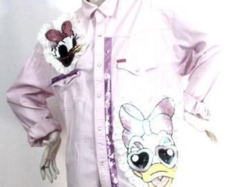 long pink shirt size XL Design Miss Daisy Brand: Cooker's