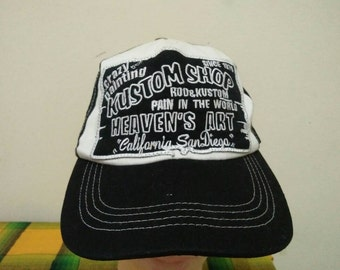 Rare Crazy Painting Custom Shop Cap Hat Free size fit all