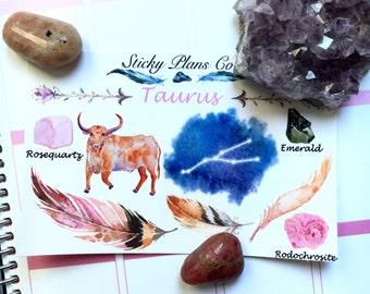 Taurus Zodiac Sign Stickers