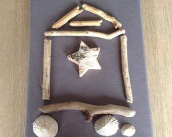 Star driftwood hut