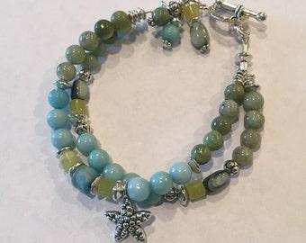 Double strand starfish bracelet #9