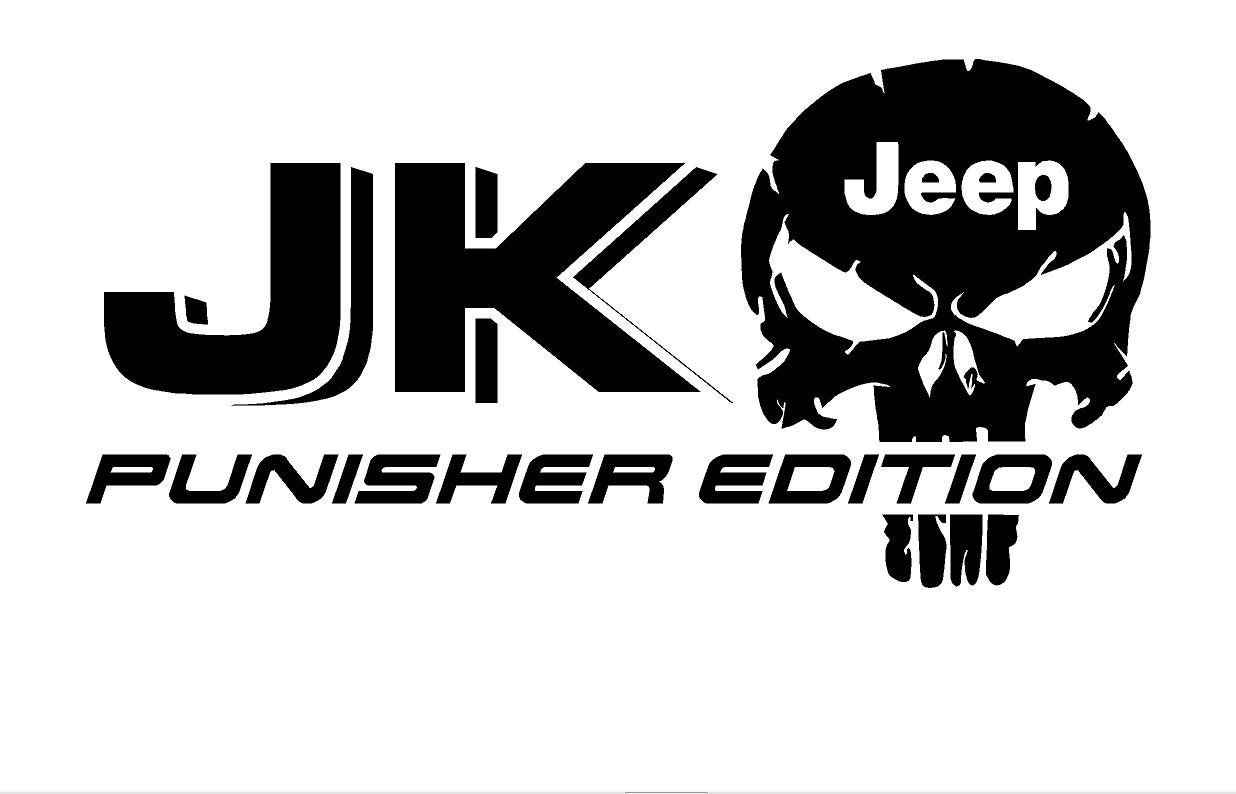 Tj Auto Sales >> 2 Truck Car Decal JK JEEP Punisher Edition Vinyl