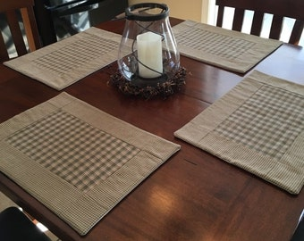 Country Plaid Placemats