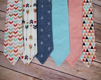 Boys tie, boys necktie, Spring tie, boys easter tie, easter tie for boys, blue tie, pink tie