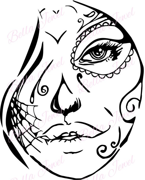 Face Svg Tattoo Design Tattoo Face Svg Svg File Svg Woman