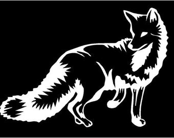 Vinyl Decal Fox animal hunt truck country bumper sticker car truck laptop