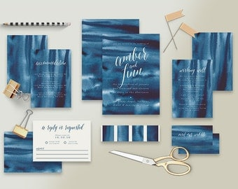 "Printable Wedding Invitation Suite ""Bohemie"" - Printable DIY Invite, Affordable Wedding Invitation"
