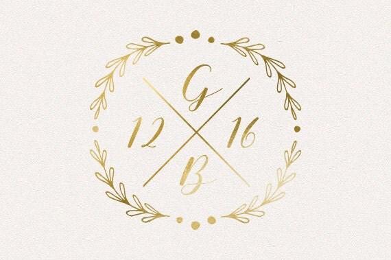 Wedding Monogram Logo DIY Initials