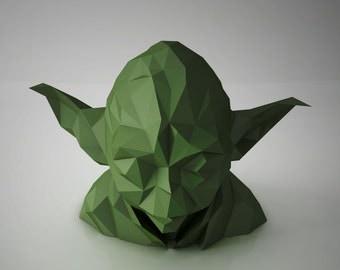 "DIY PAPER SCULPTURES  Exclusive - Star Wars ""Master Yoda"" Bust Head"