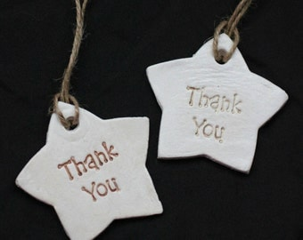 Clay 'Thank-you' Tags