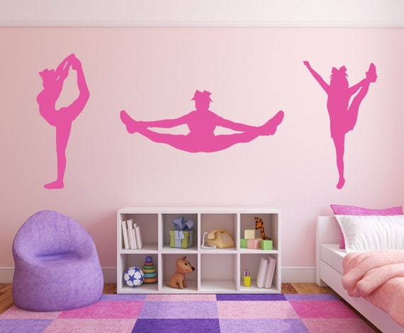 Cheerleader cheer package room wall decor vinyl decal sticker for Jugendzimmer poster