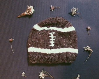 Knitted Football Beanie