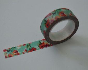 Floral washi tape 10m