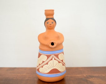 Venezuela Red Clay Pottery Pitcher / Terracotta Pottery