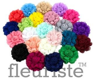 Choose colors Chiffon Flower, Wholesale Flower, Fabric Flower, Headband Flower, Wedding Flower, Flower for crafts, Diy Flower, DIY Headband