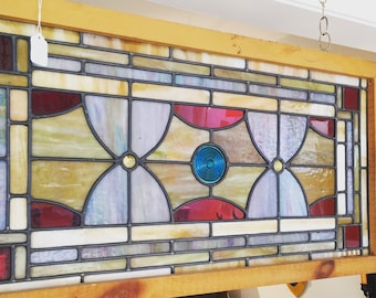Colorful Vintage Stain Flass window circa