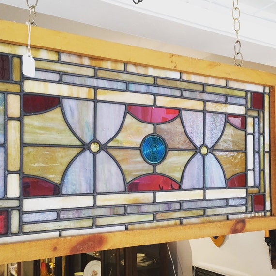 Colorful Vintage Stain Glass window circa 1800's