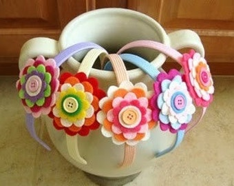 Layered flower headbands