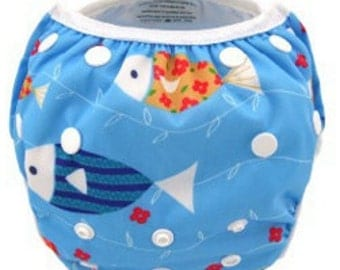 Reusable Swimming Nappies/Diapers - Fish