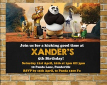 Kung Fu Panda Invitation, Birthday Invitation Sale!!!  Edit and Print Invitation, Instant Download