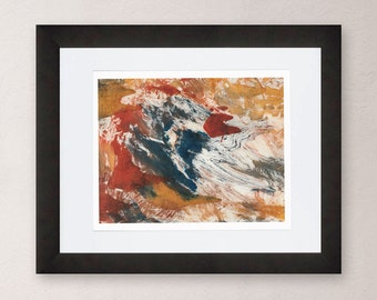 Abstract Art Print, Turmoil, Art Print, Fall Colors