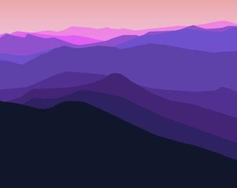 New Hampshire Mountain range- PURPLE
