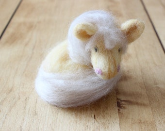 Needle Felted Animal Minitures