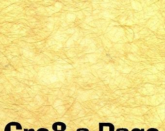Cre8-a-Page F-3 Handmade Goldenrod Transparent Fiber Paper 12x12 Scrapbooking, 10 Sheets
