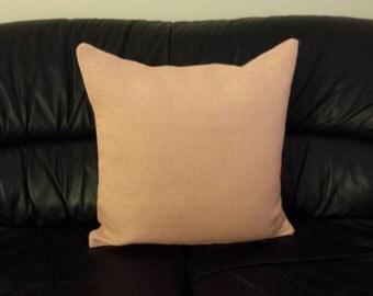 Burlap cushion cover/ Peach