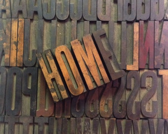 """Vintage 2-1/2"""" WOODEN CAPITAL and LOWERCASE Letter Press Alphabet & Number Group"""