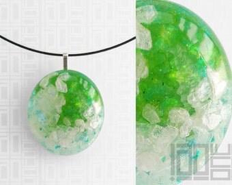 Handmade unique - LaoOne - white/green