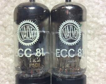 Matched Pair Valvo 12AT7 / ECC81 Vacuum Preamp Tubes NOS NIB