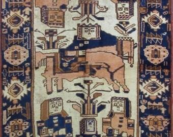 Antik Carpet Behbahan- Iran -  255 x 120 cm. - Hand Made (n. 334417)