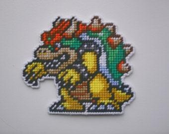 Bowser: Super Mario Maker Plastic Canvas Sprite