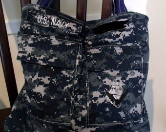 Personalized Military Tote Bag