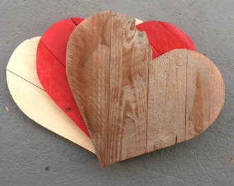 Handmade Wood Hearts