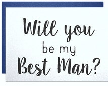 Will you be my best man card from groom engagement groomsman ring bearer wedding party invitation for wedding bachelor party