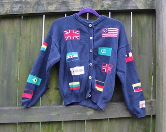 Vintage Flags of the World Sweater
